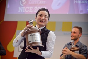Hisako Yoshikawa, Ogawa Coffee Co. LTD., JAPAN - winner of World Latte Art comp at World of Coffee Nice 2013