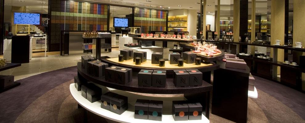 nespresso champs lys es boutique reopens with enhanced. Black Bedroom Furniture Sets. Home Design Ideas