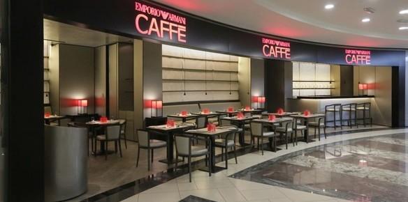 Avanzado estación de televisión retorta  Armani Café opens in Amman - Comunicaffe International