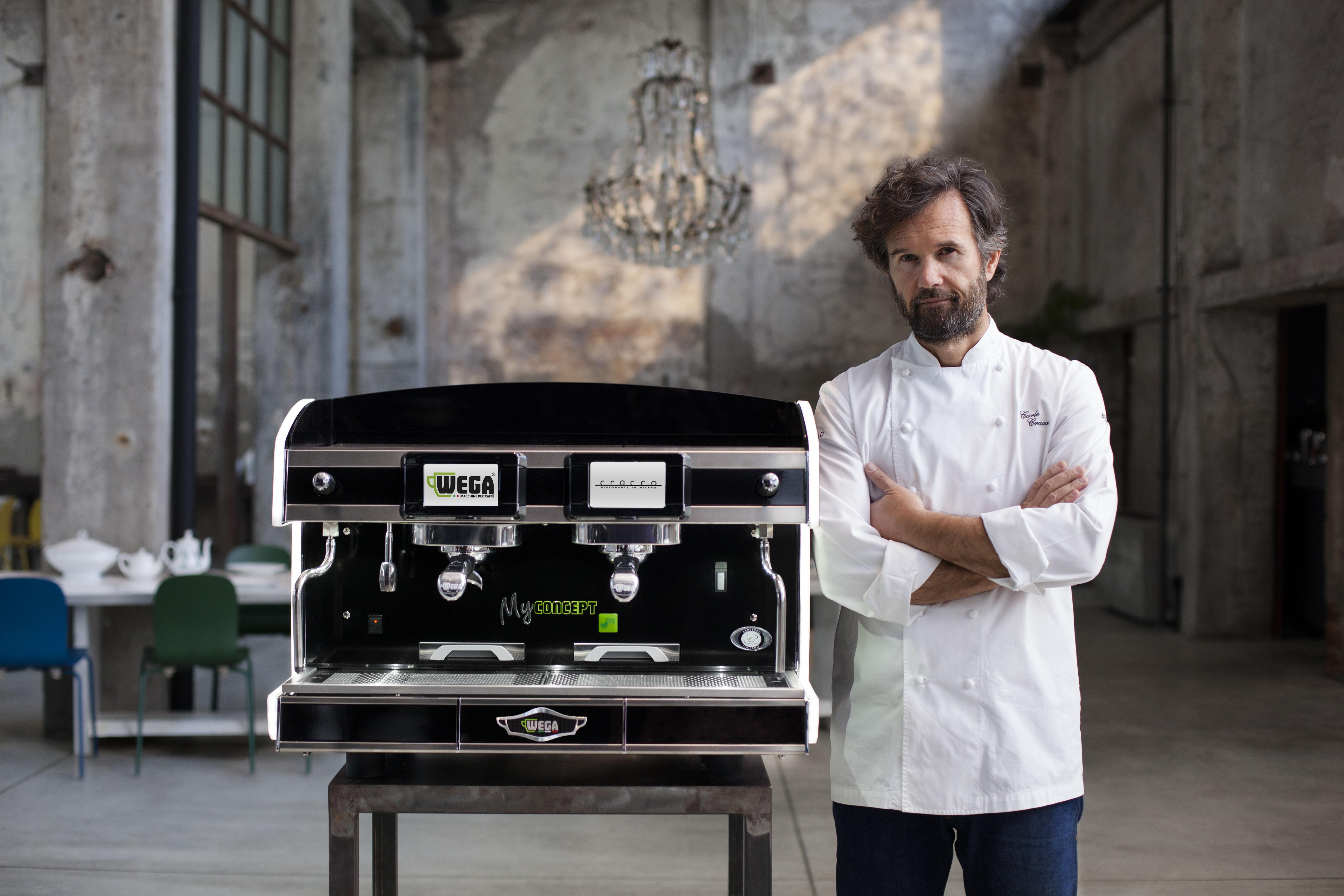 Top chef carlo cracco chooses wega coffee machines for Segheria carlo cracco