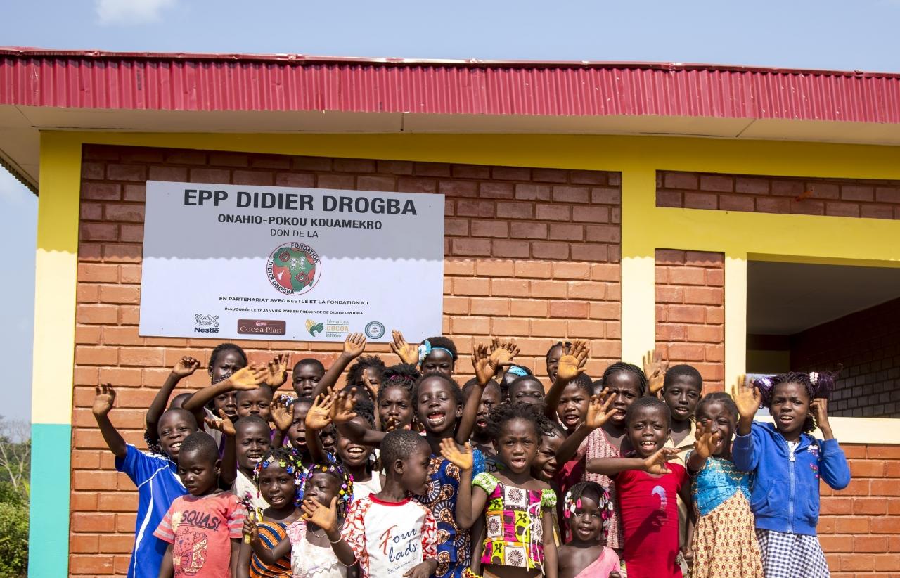 Children in Pokou Kouamekro Cte du0027Ivoire as well