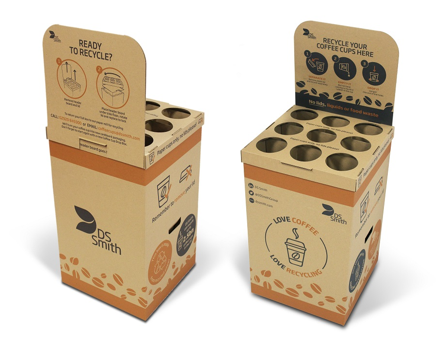 DS Smith launches new Coffee Cup Drop Box to help stop cup waste