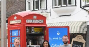 telephone box café