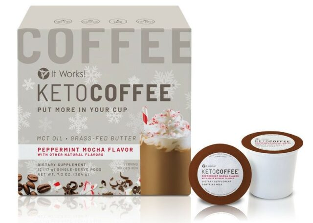 Keto Coffee Peppermint Mocha