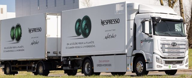 Nespresso hydrogen-powered truck