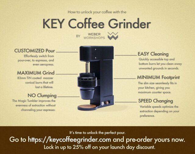 Key coffee grinder